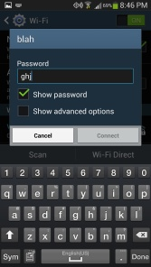 Android Show Password