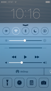 iOS7 Control Panel on Lockscreen