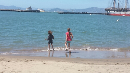 Lucy and Sarah at Aquatic Park